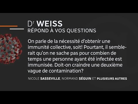 Le point sur le coronavirus avec Dr Weiss - 27 avril 2020