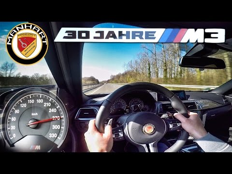 BMW M3 Manhart MH3 550 HP TOP SPEED 270 km/h Autobahn Test by AutoTopNL