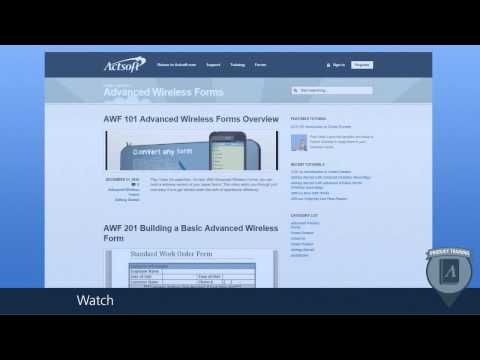 AWF 100-  Getting Started with Advanced Wireless Forms