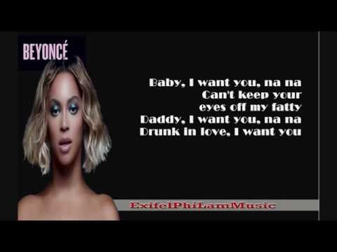 Beyonce - Drunk in Love ft. JAY Z (Clean) [Lyric Video]  HD