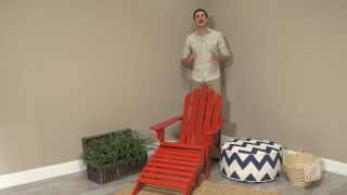 Coral Coast Red Painted Acacia Adirondack Chair With Ottoman - Product Review Video