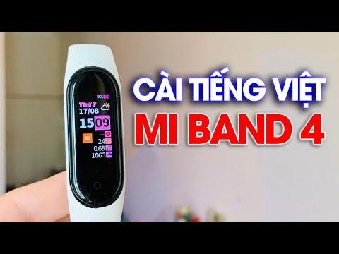 Cài tiếng Việt và Hình nền Mi Band 4 cho người mới