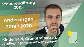 #Steuererklärung 2019 - Einstiegsvideo - Steuerliche Änderungen 2019/2020