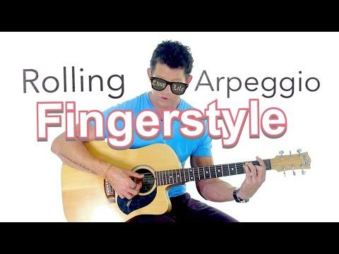 Finger-style Guitar Lesson 7 - Rolling Arpeggio Finger-style Technique
