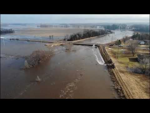 Massive flooding in all of Nebraska March 2019