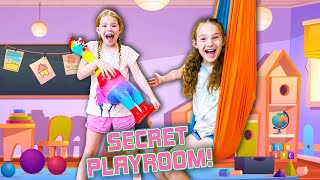 We Found a SEĊRET PLAYROOM in our House !!!