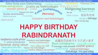 Rabindranath   Languages Idiomas - Happy Birthday