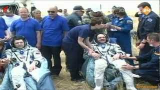 André Kuipers (Dutch astronaut) - The Soyuz has landed (July 1, 2012)