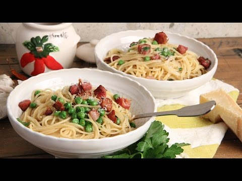 Spaghetti with Pancetta and Peas | Episode 1161