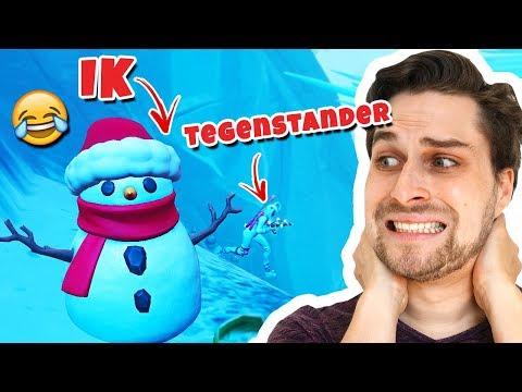 Win Verstopt Als Sneeuwpop Challenge! 😂 - Fortnite Sneaky Snowman