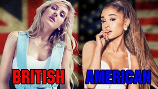 British Singers VS American Singers