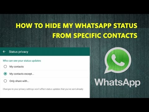 How To Hide My WhatsApp Status From Specific Contacts In Hindi | WhatsApp New Features
