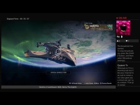 Destiny 2 Livestream With Henry The Eighth