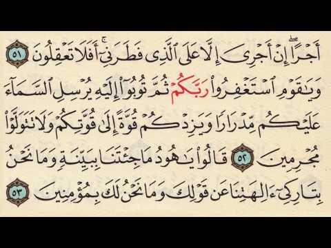 Let's memorize Surat Hud - Arabic Quran Recitation by Seddik Al-Minshawi - Memorisation made Easy