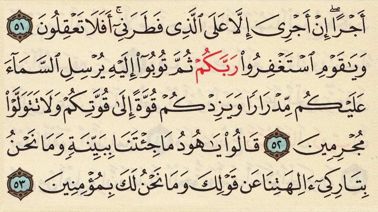 Lets Memorize Surat Hud Arabic Quran Recitation By Seddik Al Minshawi Memorisation Made Easy