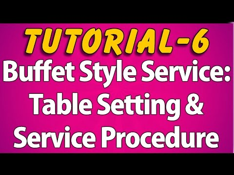 Buffet Style Service : Table Setting & Service Procedure (Tutorial 6)