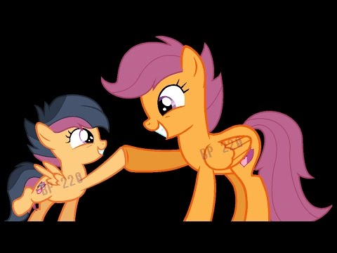 my little pony scootaloo and her daugther harukain next