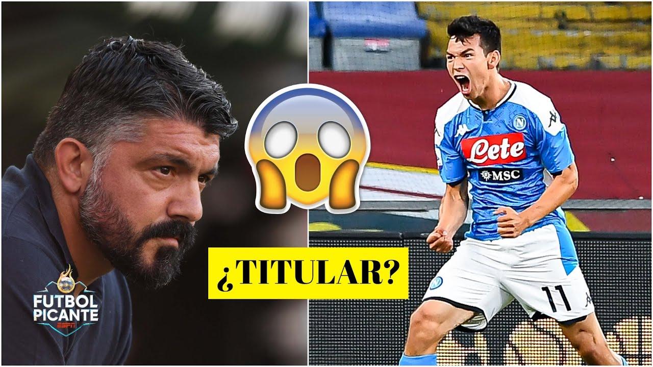 ¿Será TITULAR CHUCKY LOZANO para Gattuso en Napoli vs Barcelona en la Champions? | Futbol Picante