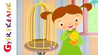Az árgyélus kismadár (Gyerekdalok és mondókák, rajzfilm gyerekeknek)