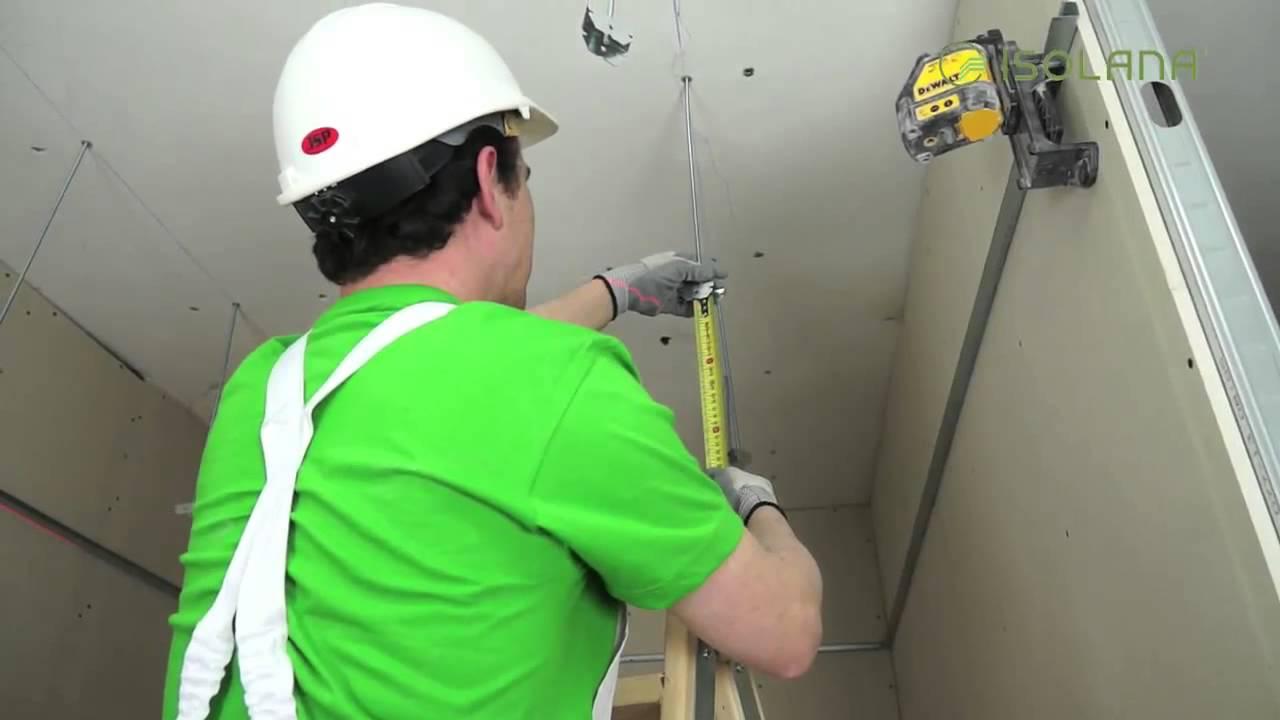 Cómo montar falsos techos tipo pladur - YouTube