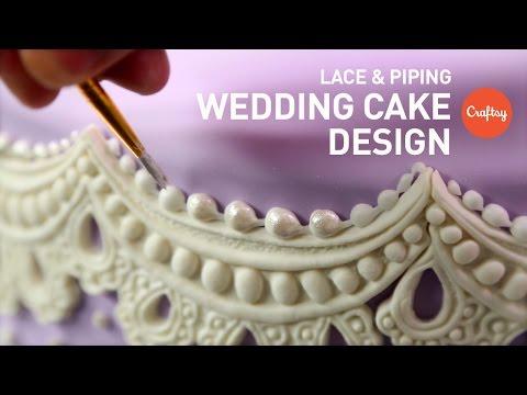 wedding-cake-design:-piping-&-lace-gumpaste- -craftsy-cake-decorating-tutorial