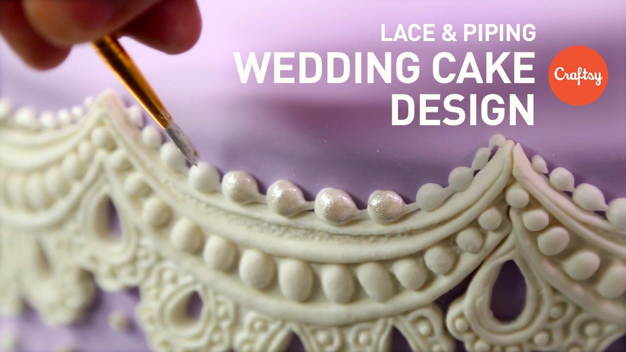 Wedding Cake Design Piping Lace Gumpaste Craftsy Decorating Tutorial You