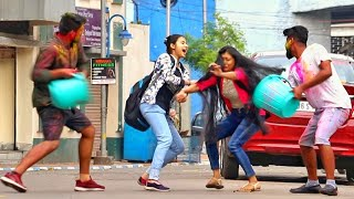 Holi Prank on Girls 😱😱 Holi Special Prank 2020 by PrankBuzz