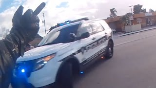 CRAZY POLICE ESCAPE - Biker Jumps Median and Swerves Through Traffic to Escape 20+ COPS!!