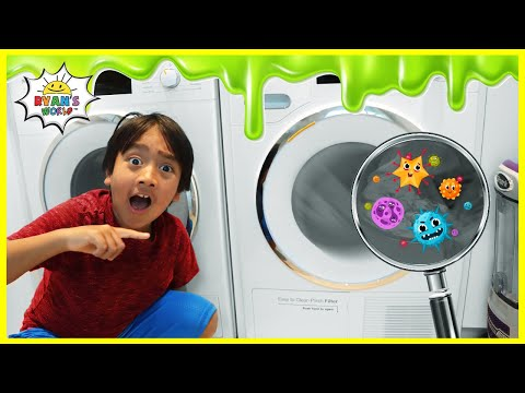 Ryan growing Bacteria in the New House Science Experiments for kids!