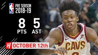 Collin Sexton Full Highlights Cavs vs Pistons 2018.10.12 - 8 Pts, 5 Assists