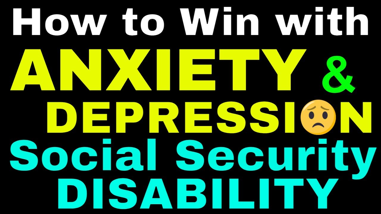 Depression | Anxiety | Winning Strategies Social Security