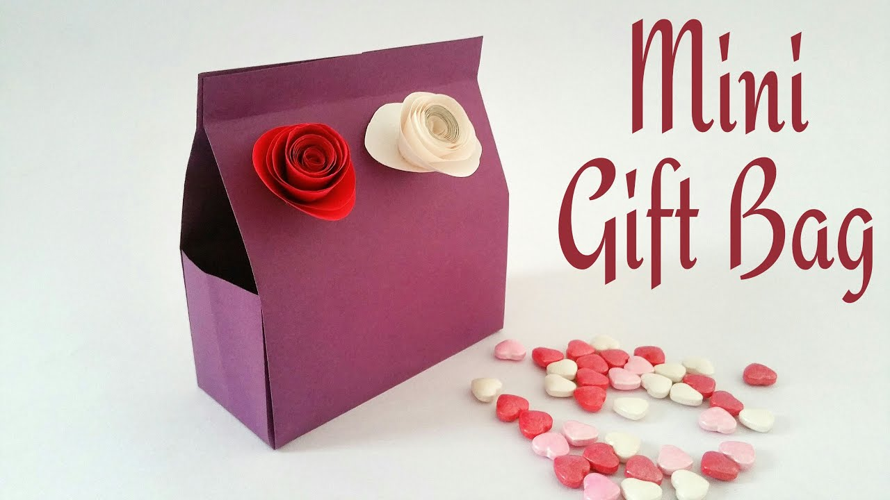 How to make a paper mini gift bag origami gift ideas how to make a paper mini gift bag origami gift ideas tutorial youtube negle Image collections