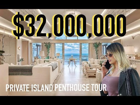 FISHER ISLAND $32MILLION DOLLAR PENTHOUSE IN MIAMI - RICHEST ZIP CODE IN AMERICA