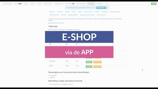 TUTORIAL ~ Bestellen via E-SHOP in de APP van je stad/gemeente
