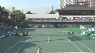 AIG OPEN 2008 3回戦 アレクサンドラ・ウォズニアク VS サマンサ・ストーサー