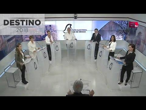 Primer debate entre candidatos a la Jefatura de Gobierno de la CDMX