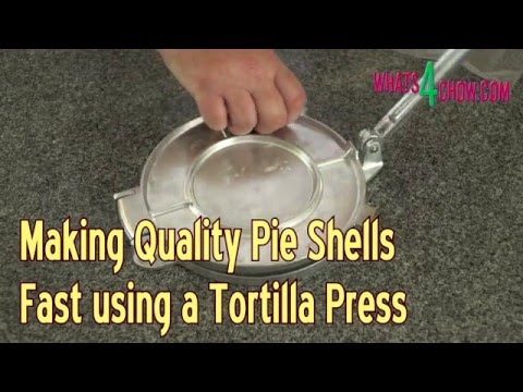 Making Quality Pie Shells Fast Using a Tortilla Press - Increasing Pie Production Tricks!!!