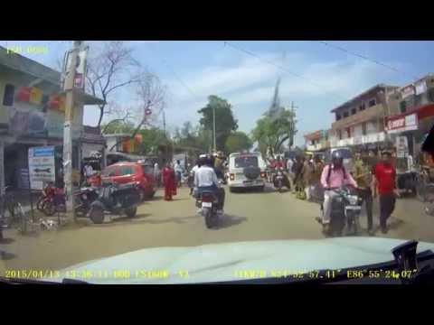 Drive through Banka town