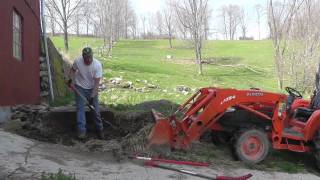Moving Manure. Portrait of a man who loves his life