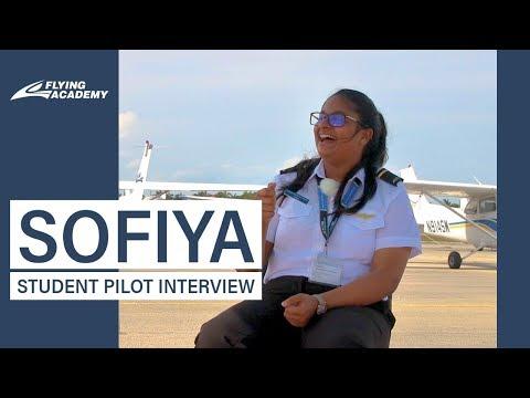 PILOT GIRL SOFIYA FROM FLYING ACADEMY