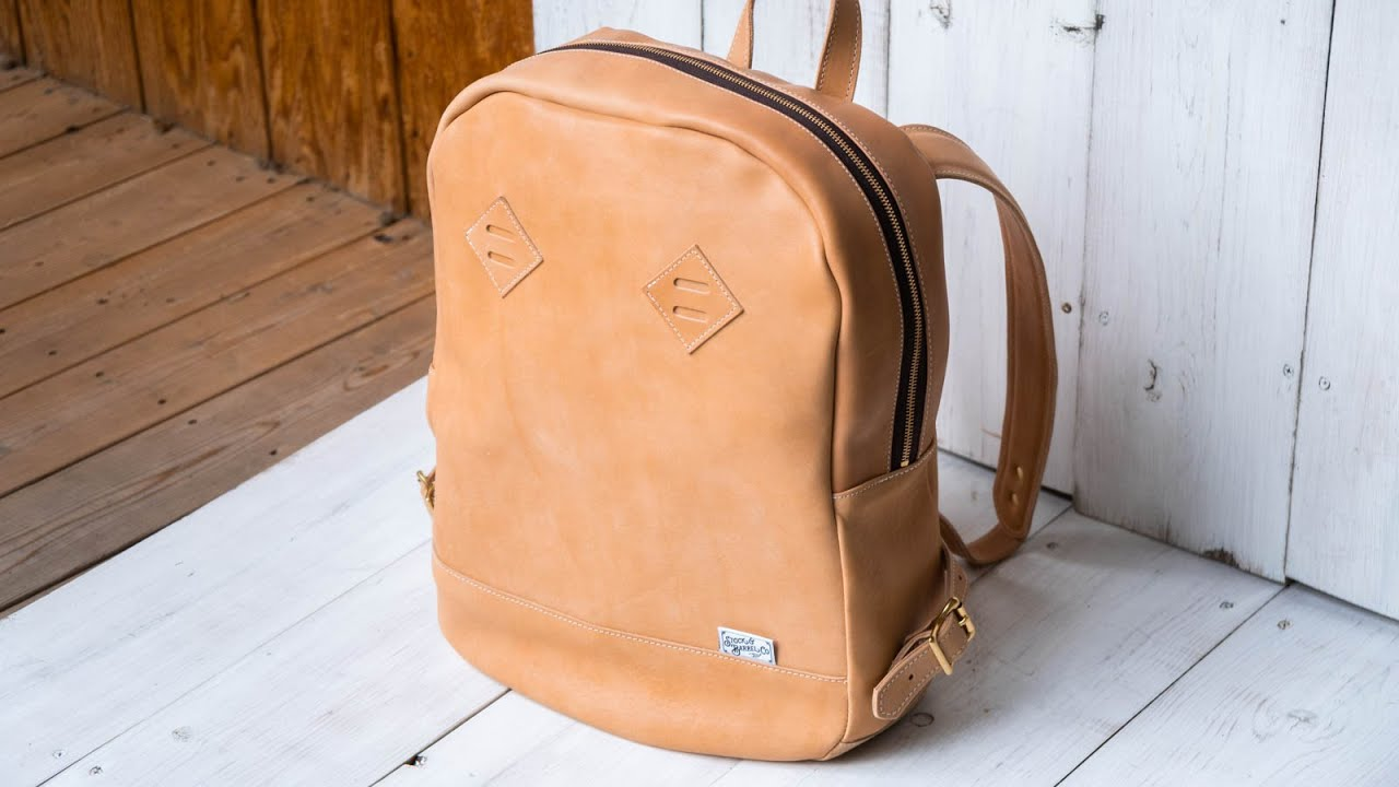 Making a Leather Zip Top Backpack - Horween Natural Essex