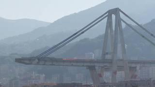 Italy bridge | Controlled explosions demolish two pylons of Genoa bridge | Live GENOA