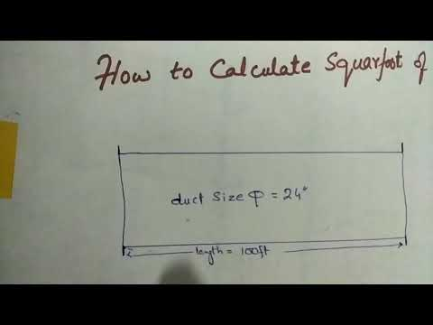 How to Calculate squarefoot of a round duct - YouTube