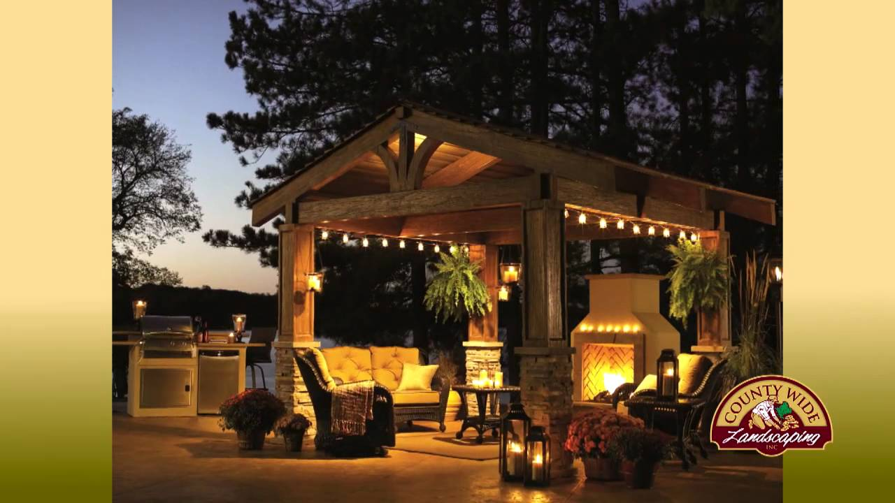 Hinsdale Outdoor Cabana | Hinsdale Outdoor Pergola Designs - YouTube