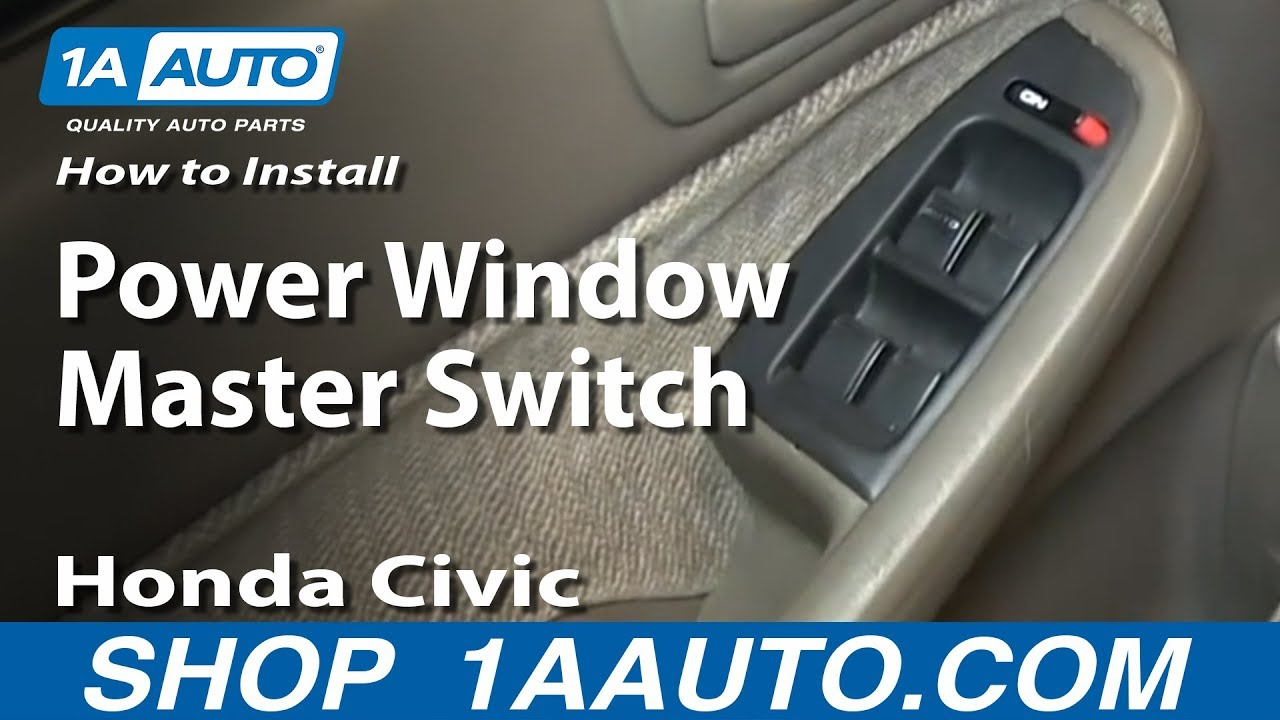 maxresdefault how to install replace power window master switch 1996 2000 honda 2000 honda civic power window wiring diagram at bayanpartner.co