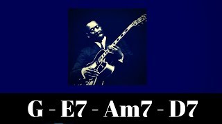 G Major Jazz Backing Track | Medium Swing 1-6-2-5