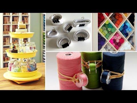 👚40 Clever Sewing Supplies Organization Ideas  2017 - Room Storage Hacks   Flamingo Mango👚