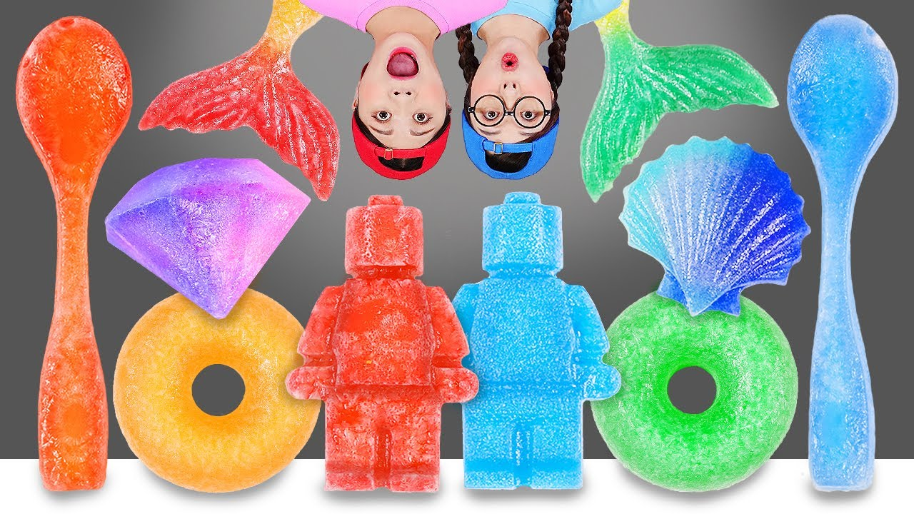 Kohakuto Rainbow Candy Mukbang 무지개 코하쿠토 먹방 DONA 도나