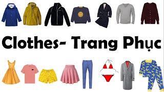 Học tiếng Anh chủ đề tên các loại trang phục/Clothes/ English online