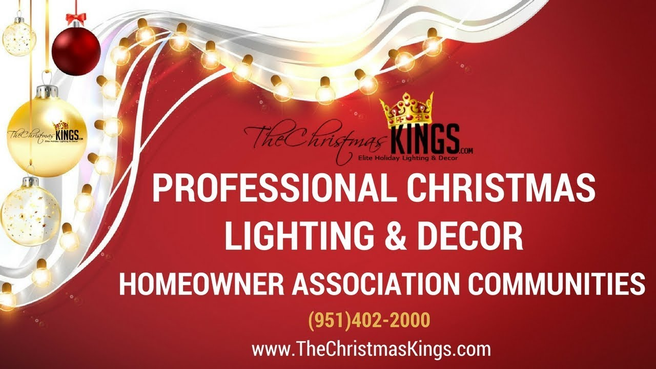 Hoa Communities Professional Christmas Lighting And Decor Youtube